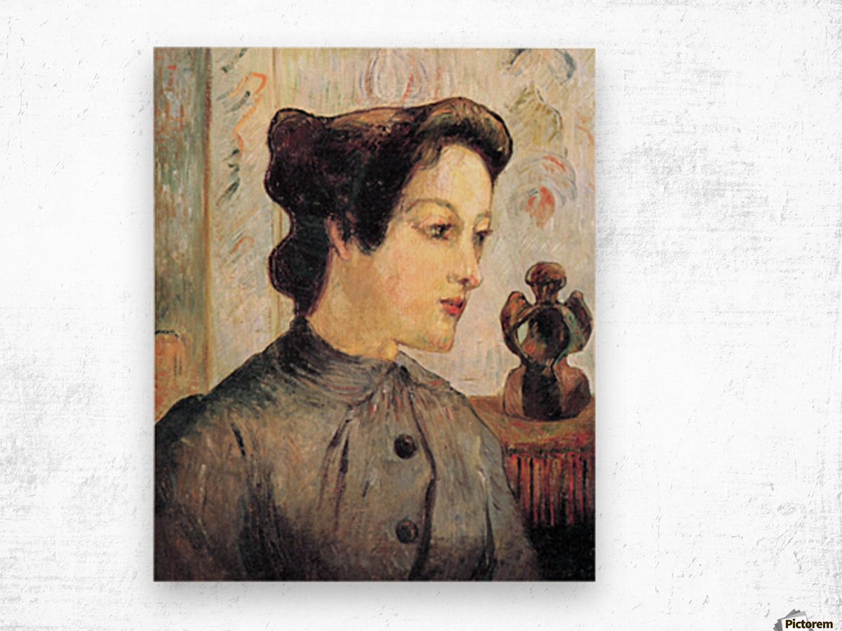 Women With Topknots by Gauguin Wood print