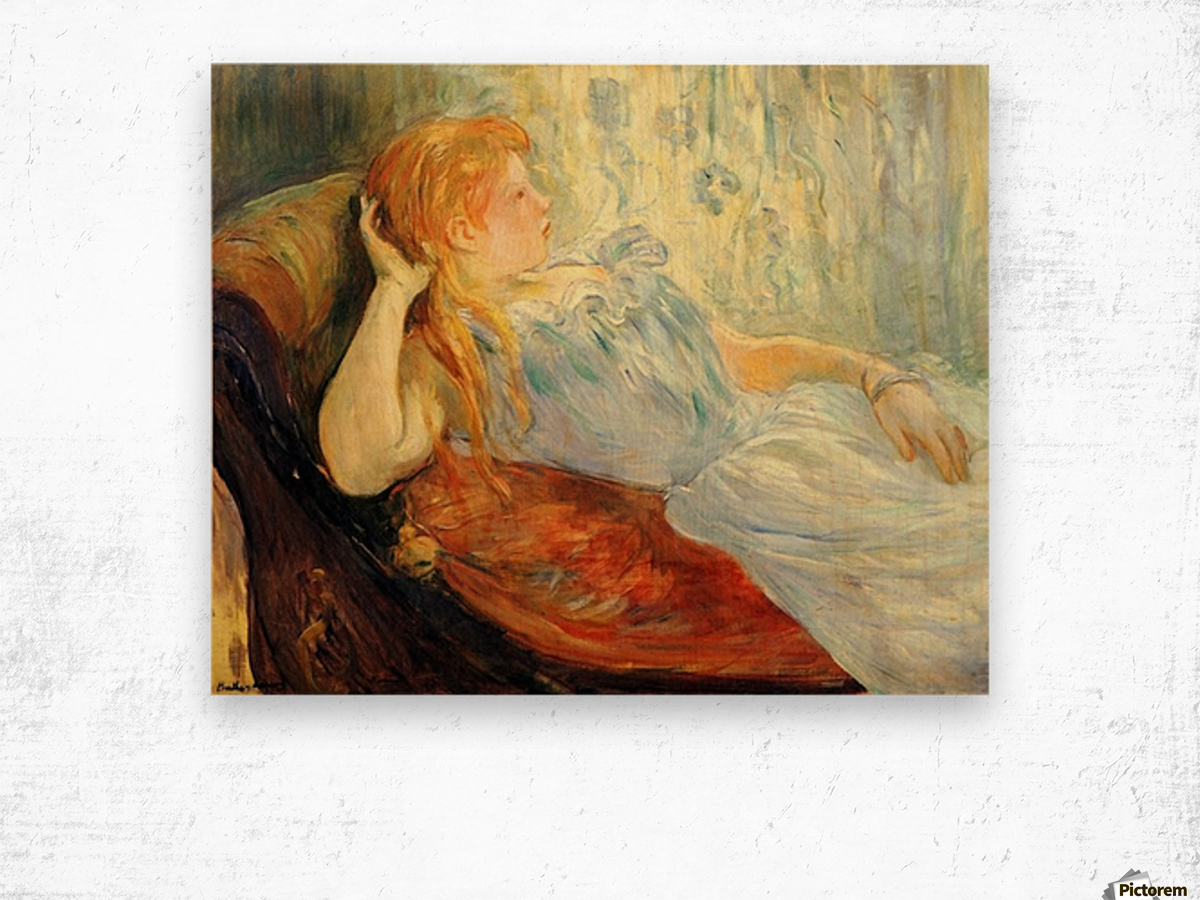 Young girl resting -2- by Morisot Wood print