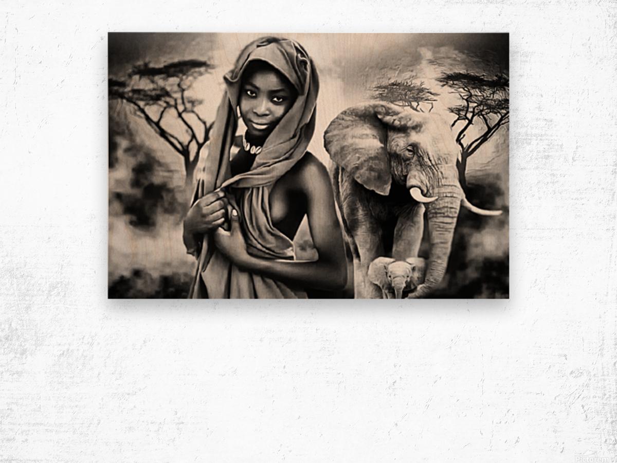 africa 2 Wood print