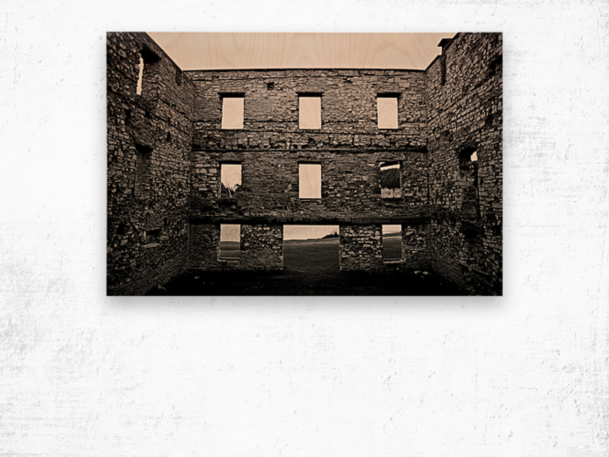 Stone Structure Wood print