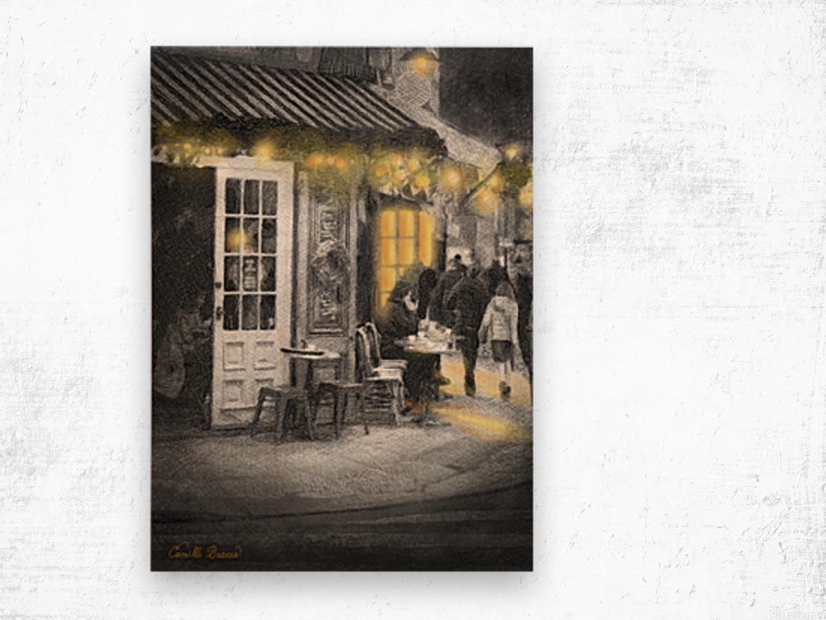 Night time is the right time Wood print