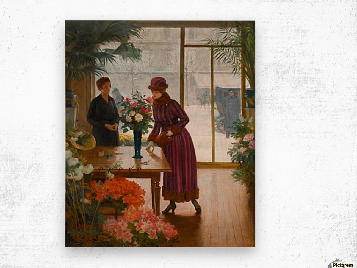 Florist Wood print