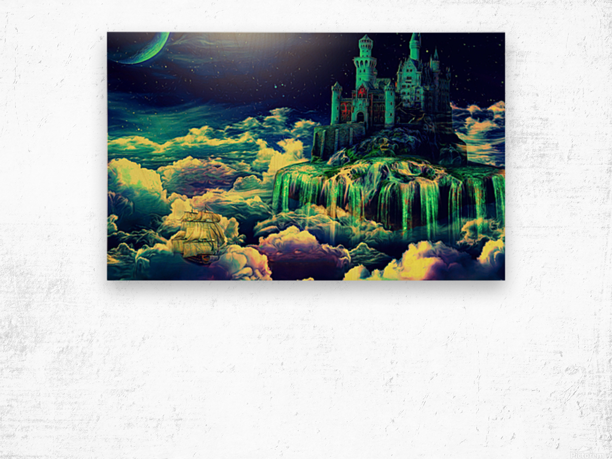 Castle In The Clouds Wood print
