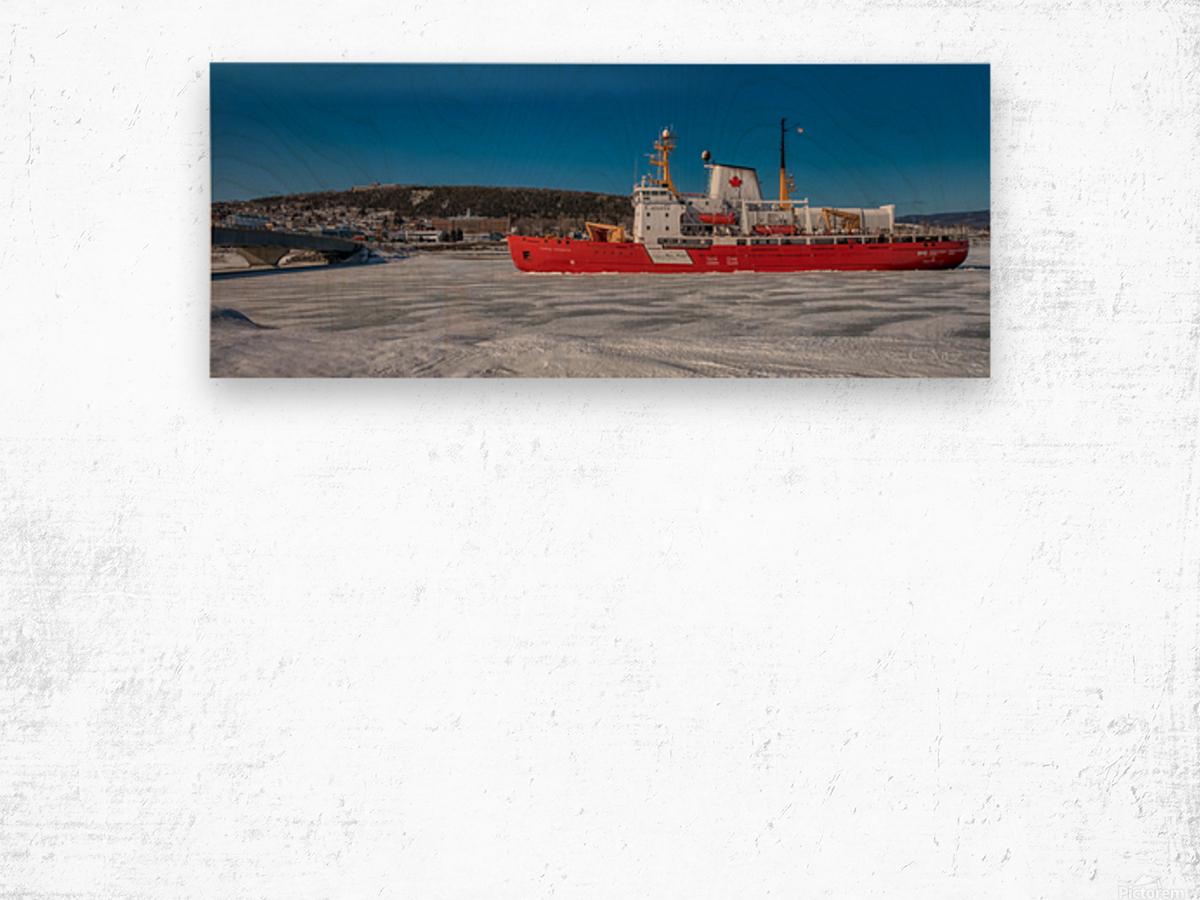 Le Pierre Radisson a Gaspe Wood print