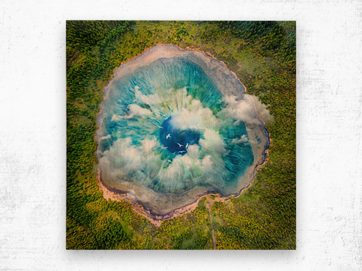 Dream Art XIX Surreal Eye Lake Wood print