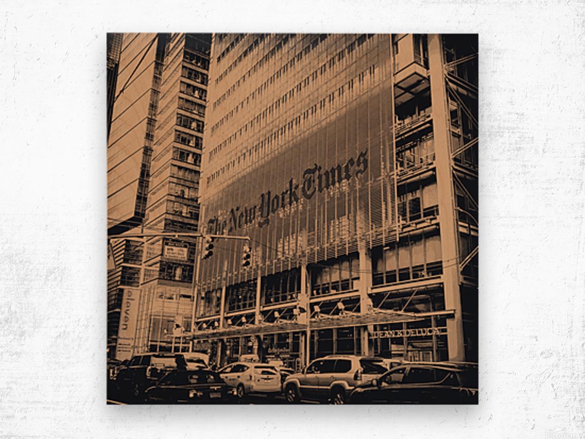 New York Times Wood print