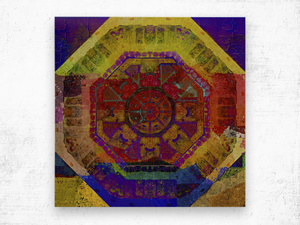 Aztec Dreaming Wood print