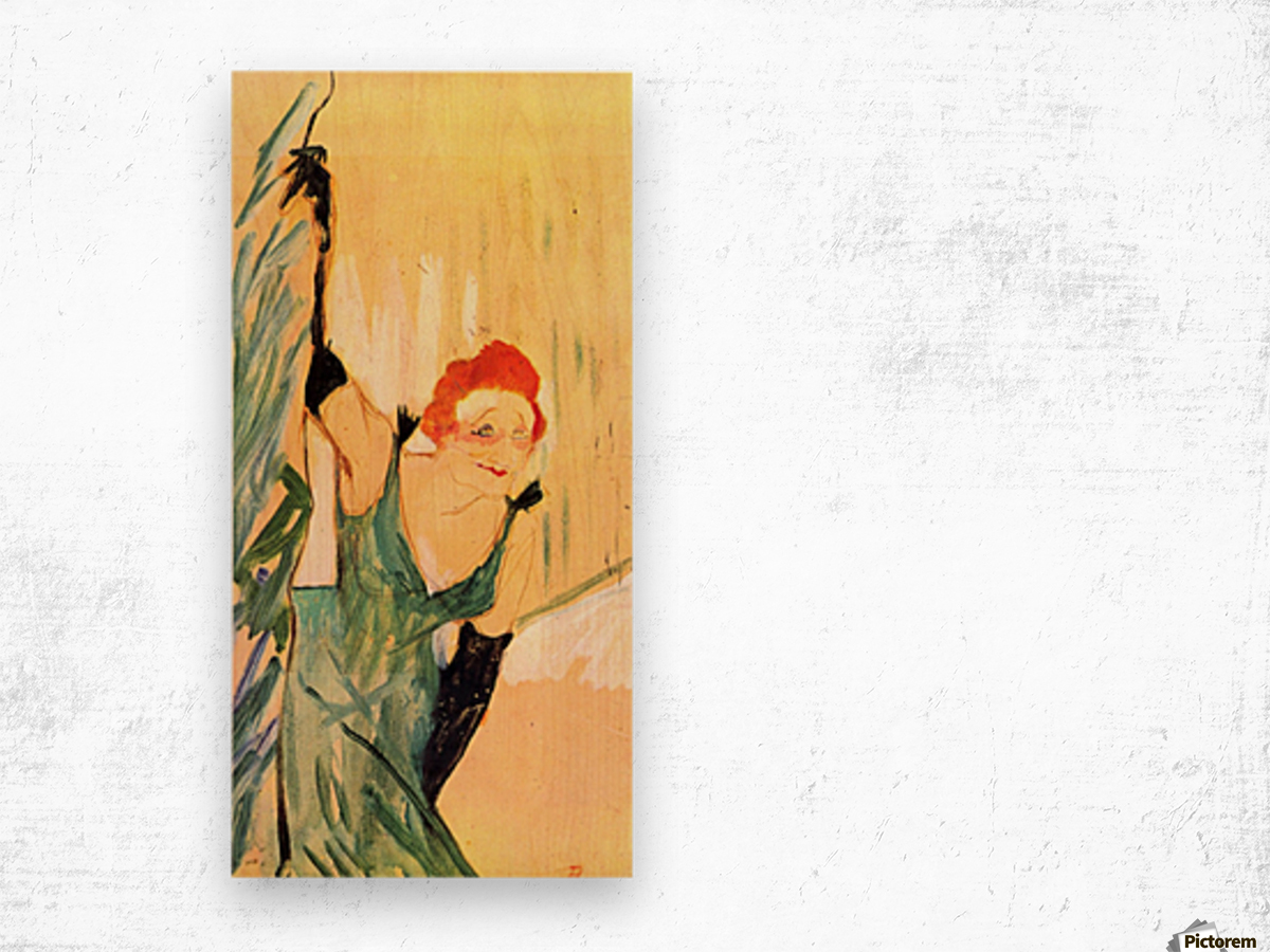 Yvette Guilbert greets the Audience by Toulouse-Lautrec Wood print