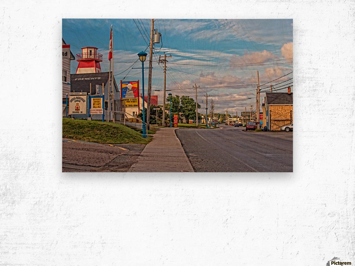 Cheticamp - Main Street Wood print