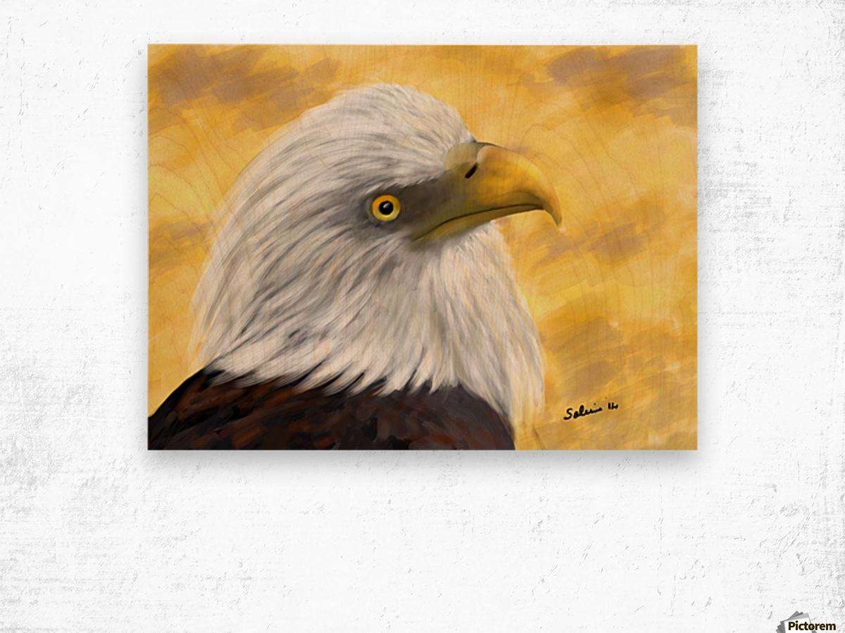 Proud Eagle Wood print