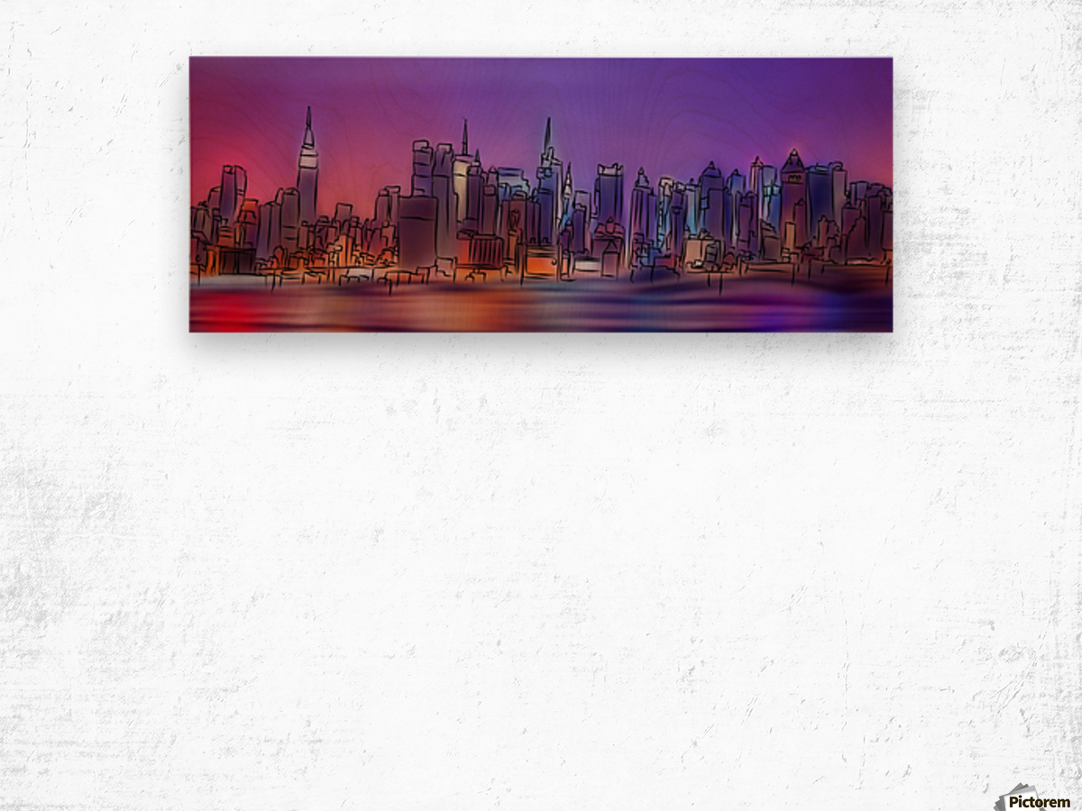 Yorkirius - Abstract skyline Wood print