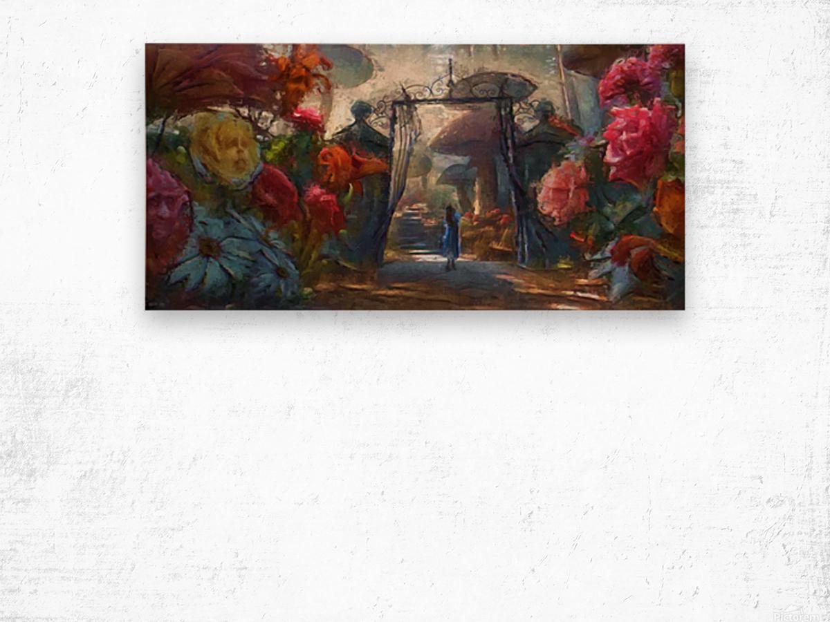Flowers of Wonderland Wood print