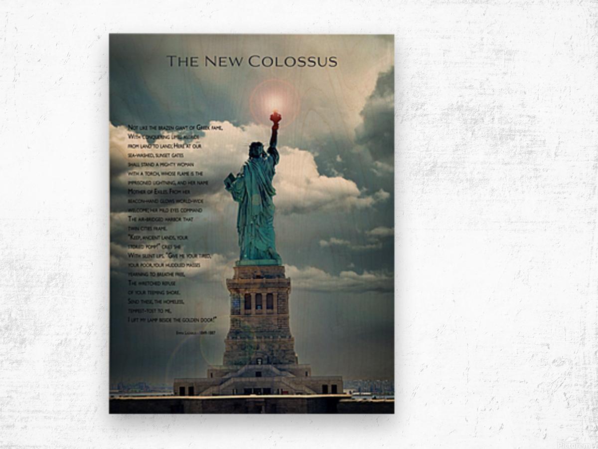 New Colossus Wood print