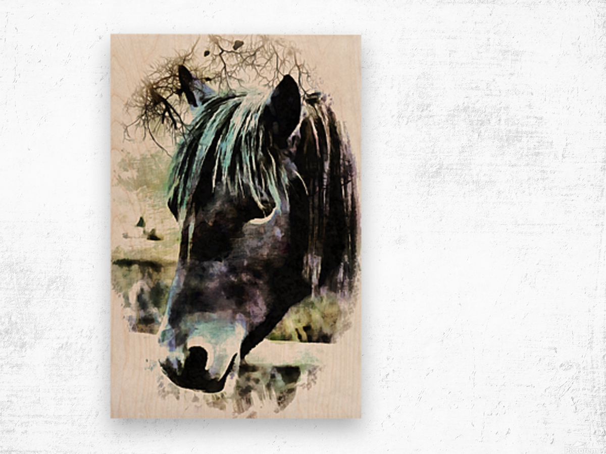 Horse Spirit Guide Wood print