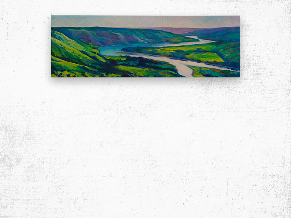 Peace River in Spring Wood print