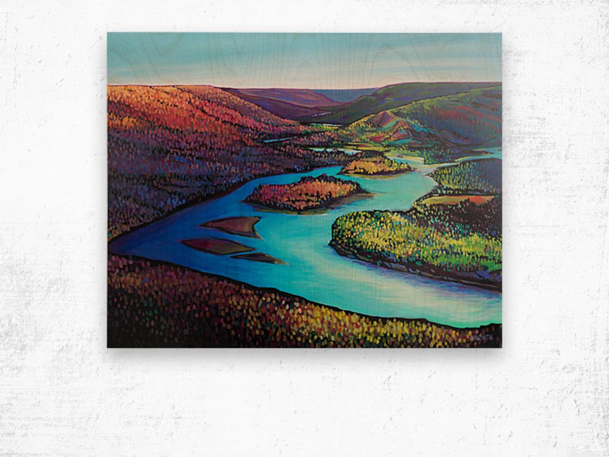 Fall Arrives at Peace River Wood print