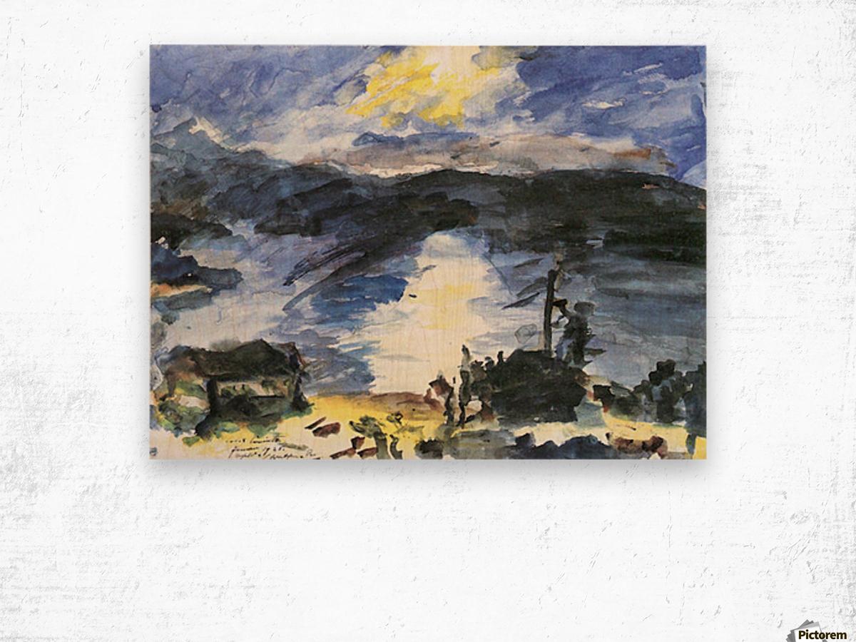 Walchensee -4- by Lovis Corinth Wood print