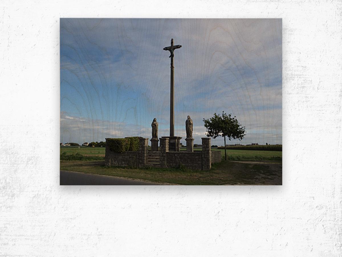 a la crois  e des chemins at the crossroads Wood print