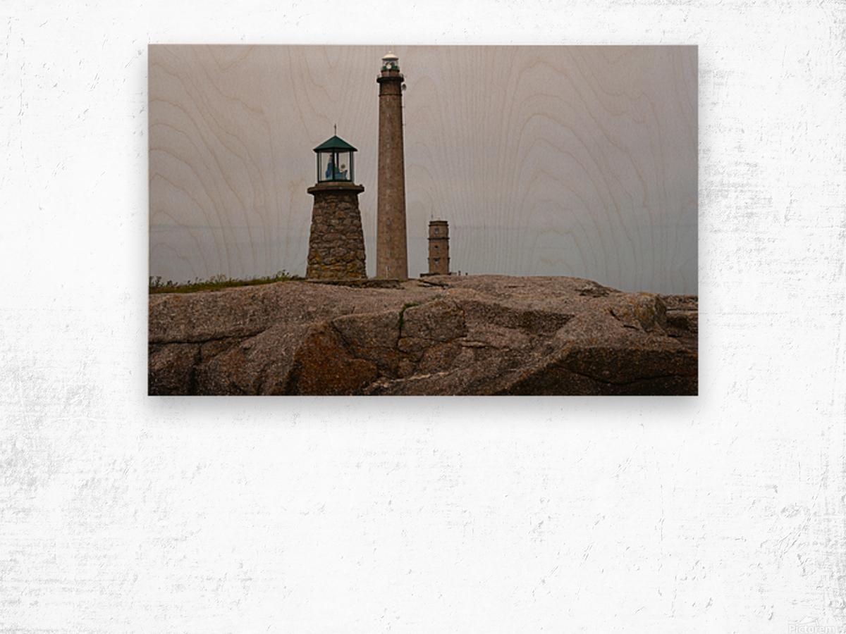 Architecture marine Light house Wood print