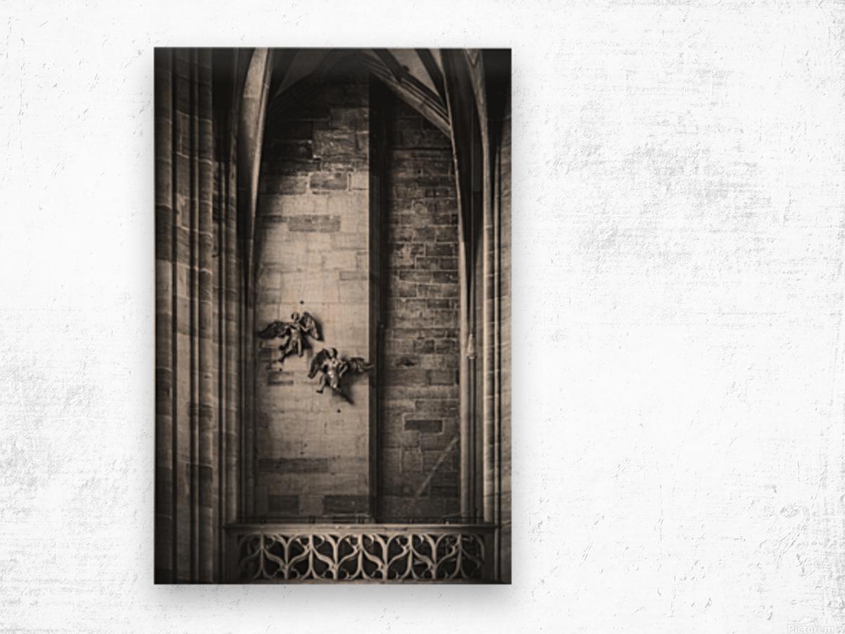 Gothic angels Wood print