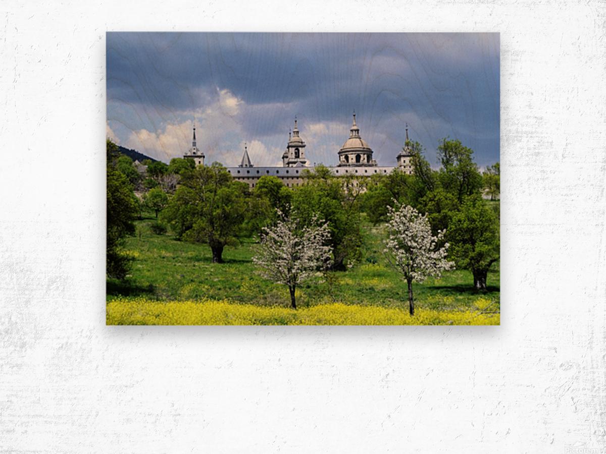 Casita del Principe 5 of 7 - Park and Gardens - The Royal Monastery of San Lorenzo de El Escorial - Madrid Spain Wood print