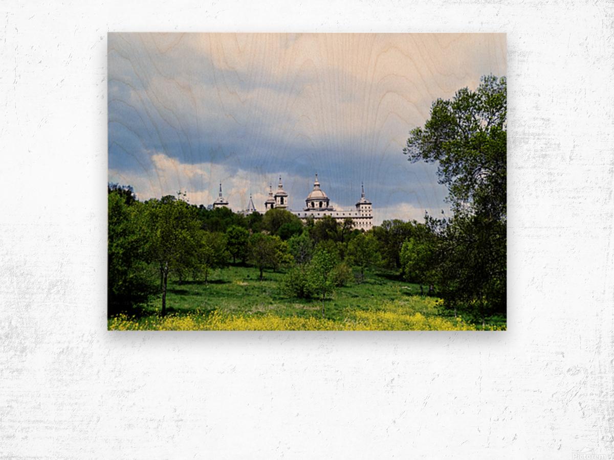 Casita del Principe 2 of 7 - Park and Gardens - The Royal Monastery of San Lorenzo de El Escorial - Madrid Spain Wood print