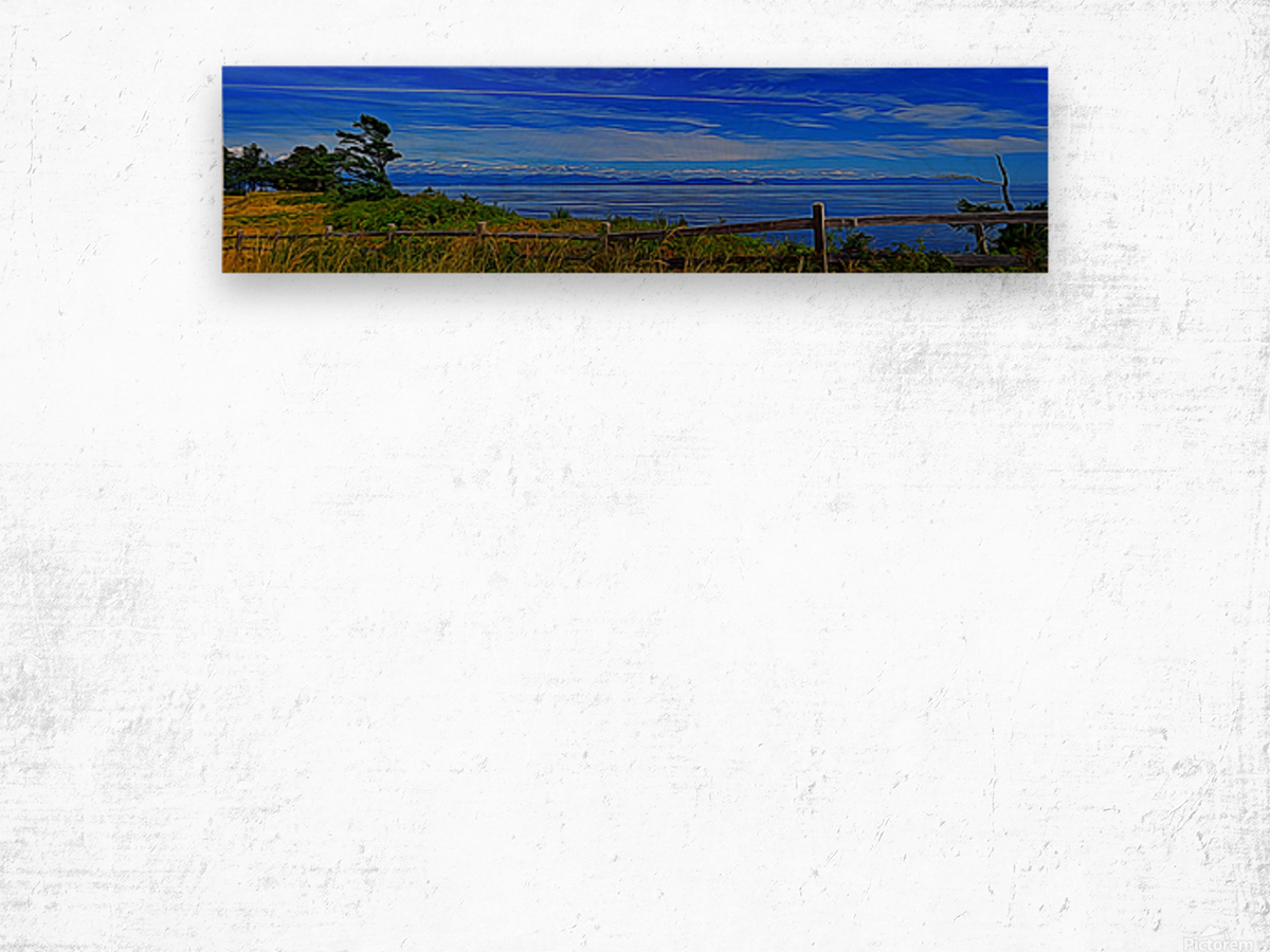 View from Cape Lazo Wood print