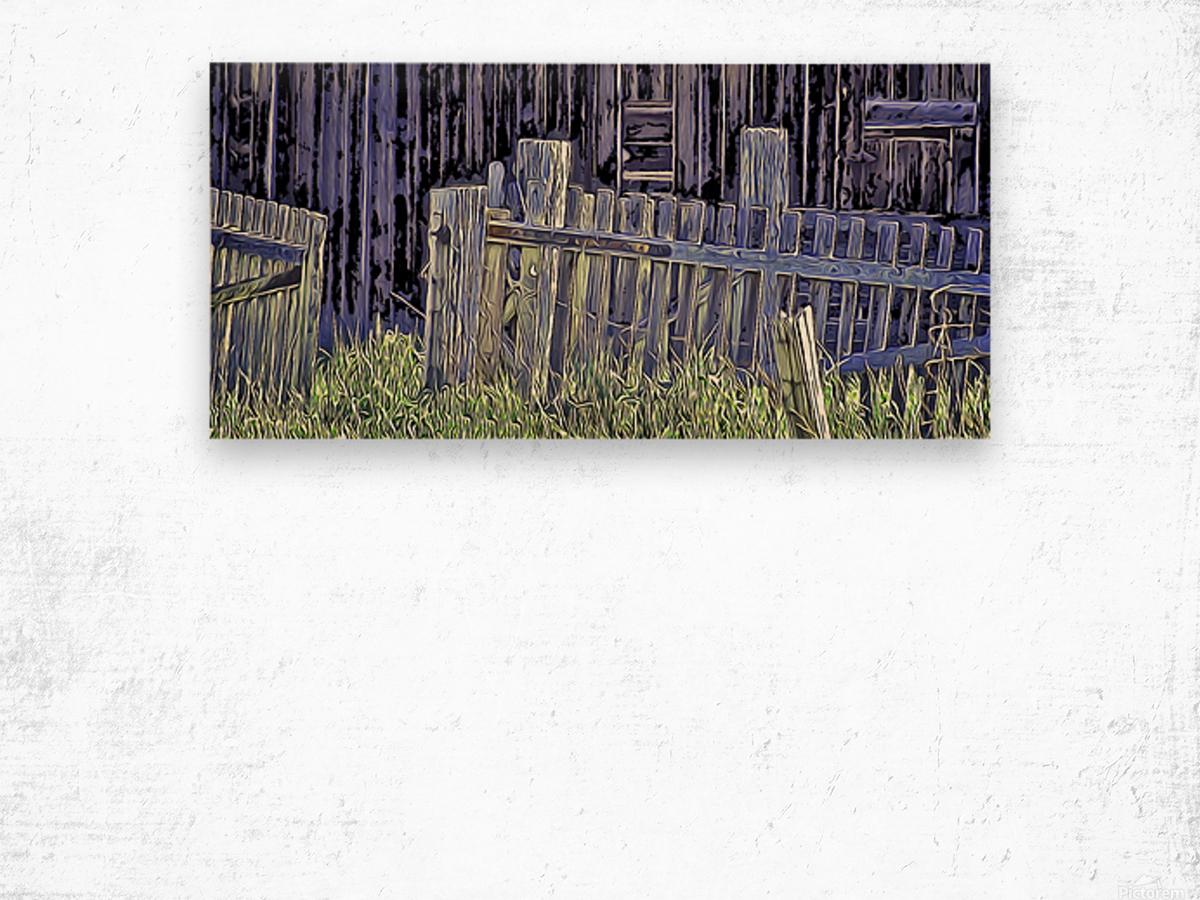 Forsaken Barnyard Wood print