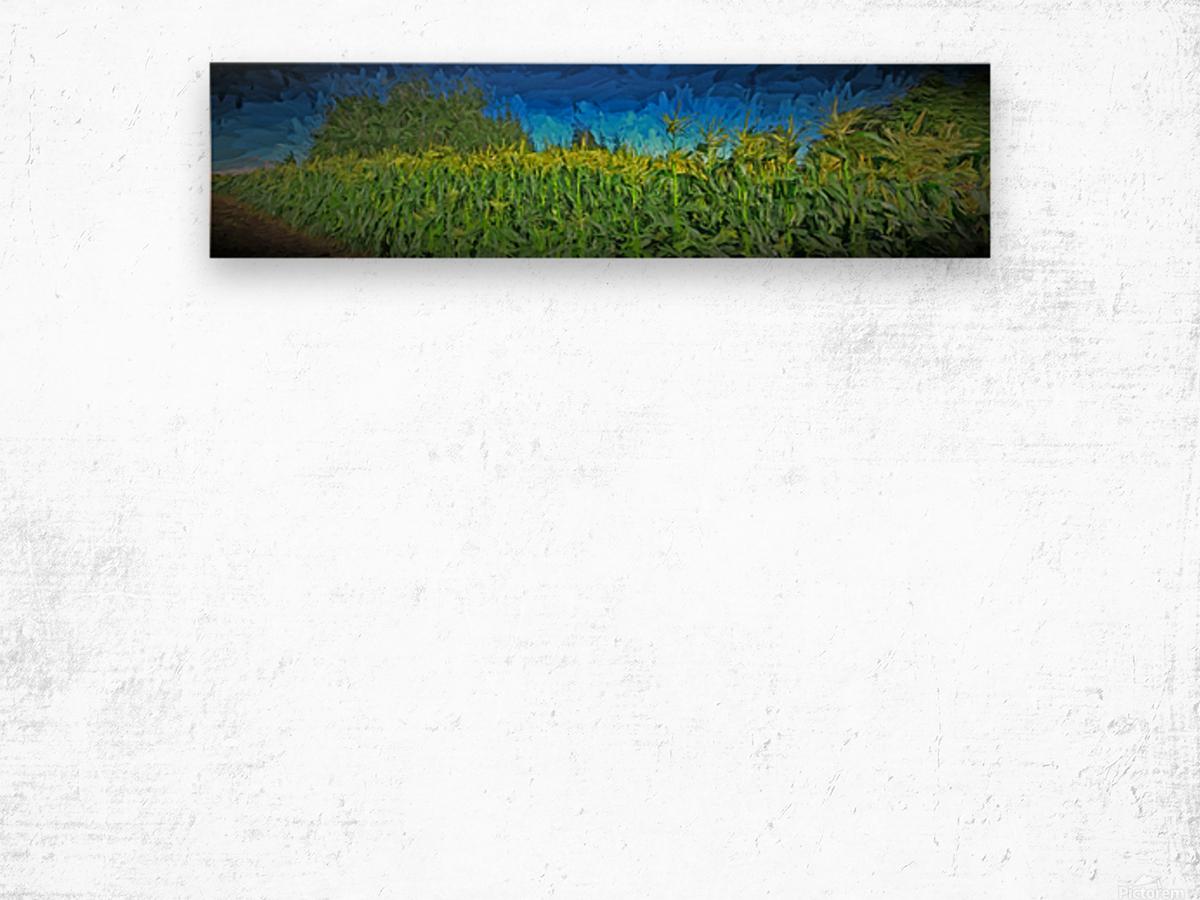 Summer Corn Wood print