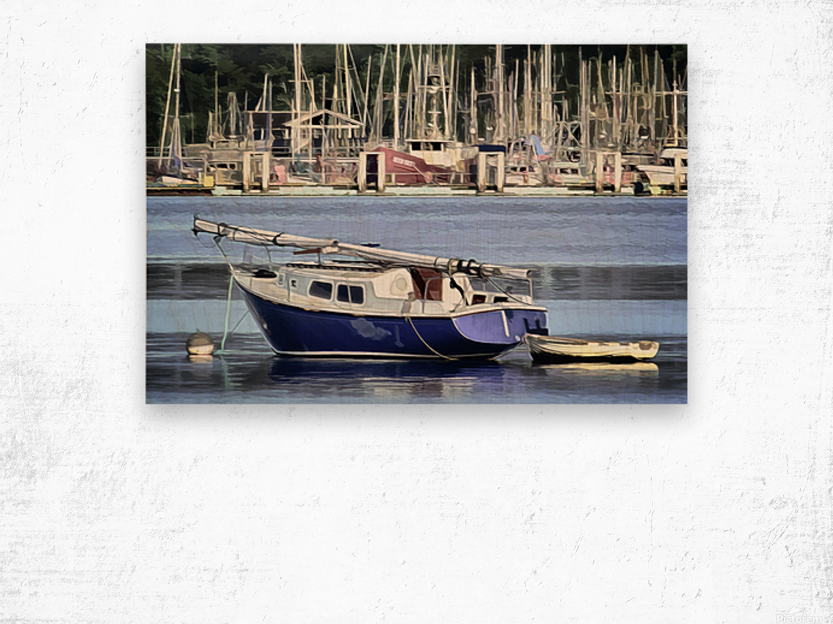 Resting in the Harbor Wood print