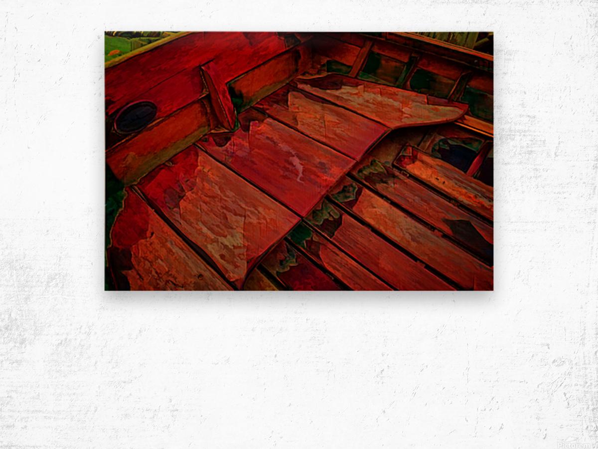 Rowboat Abstract Wood print