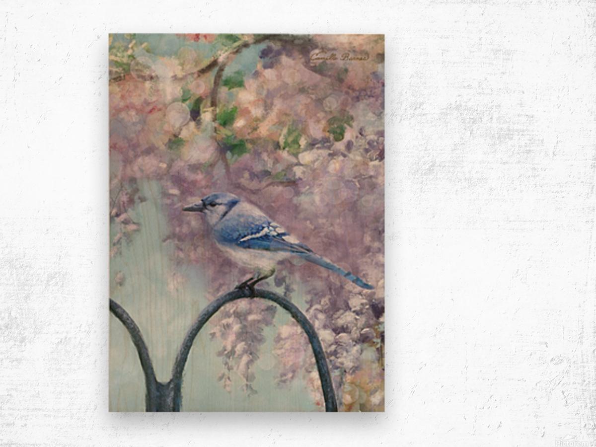 Garden bird Wood print
