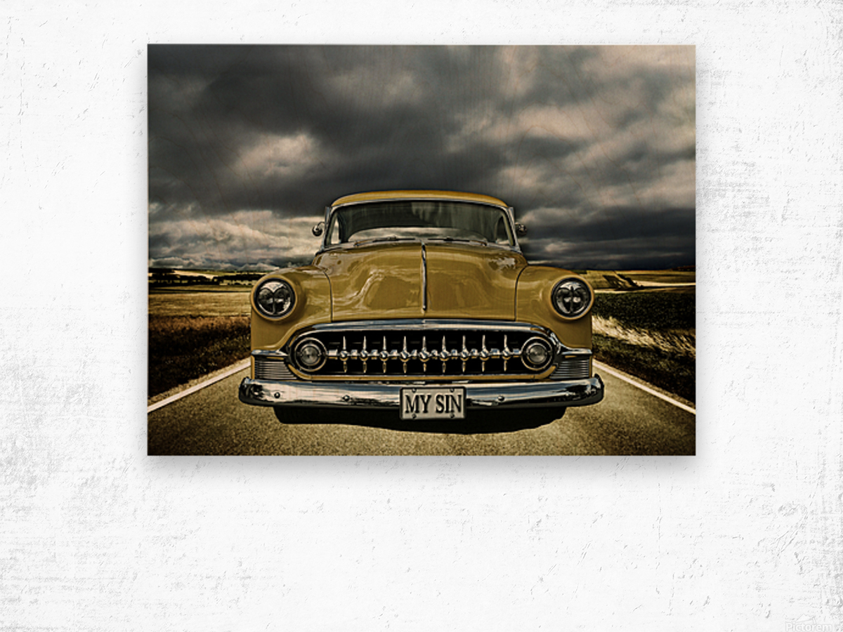 1953 Chevrolet Wood print