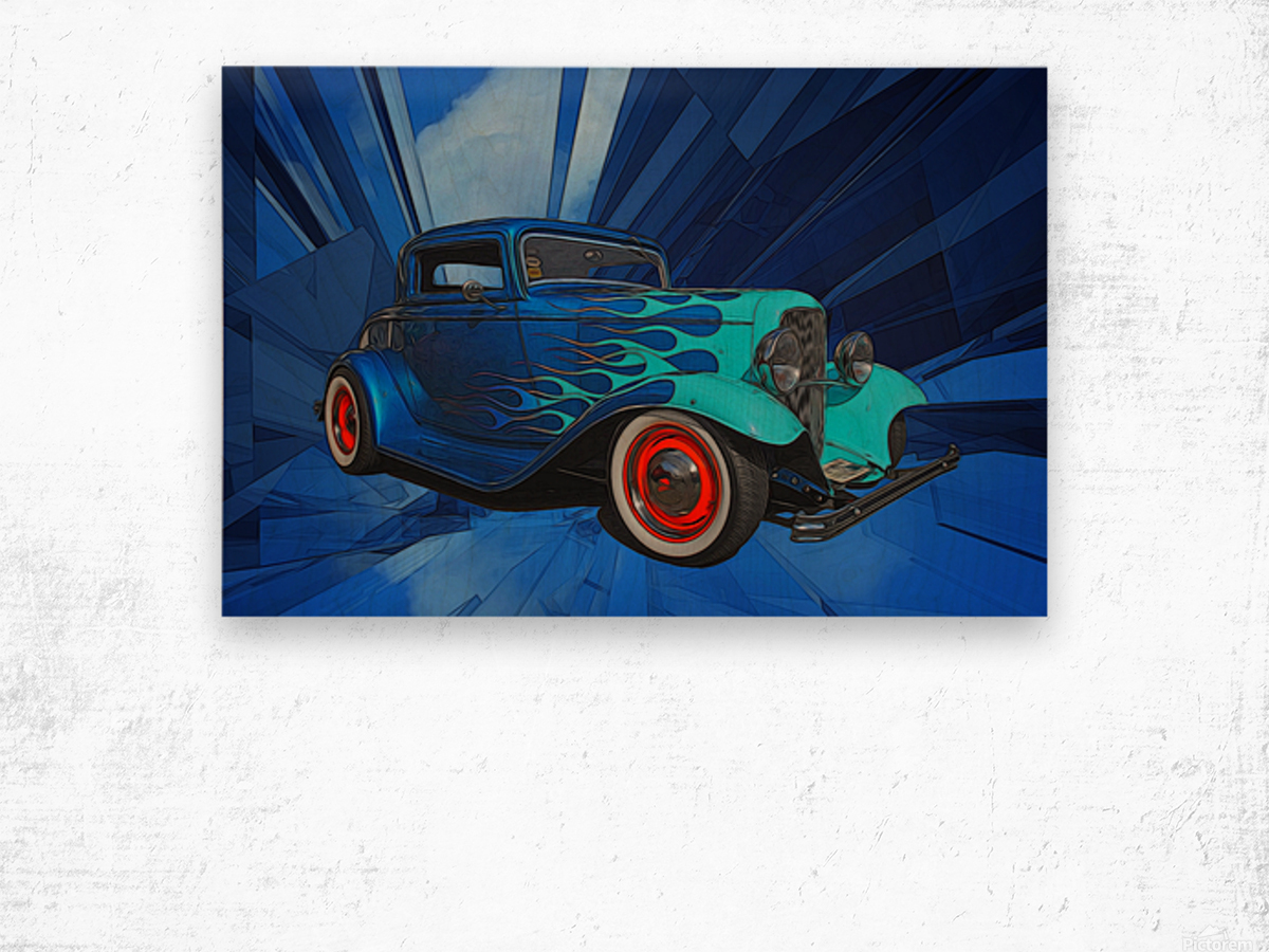 1932 Ford 3-Window Coupe Wood print