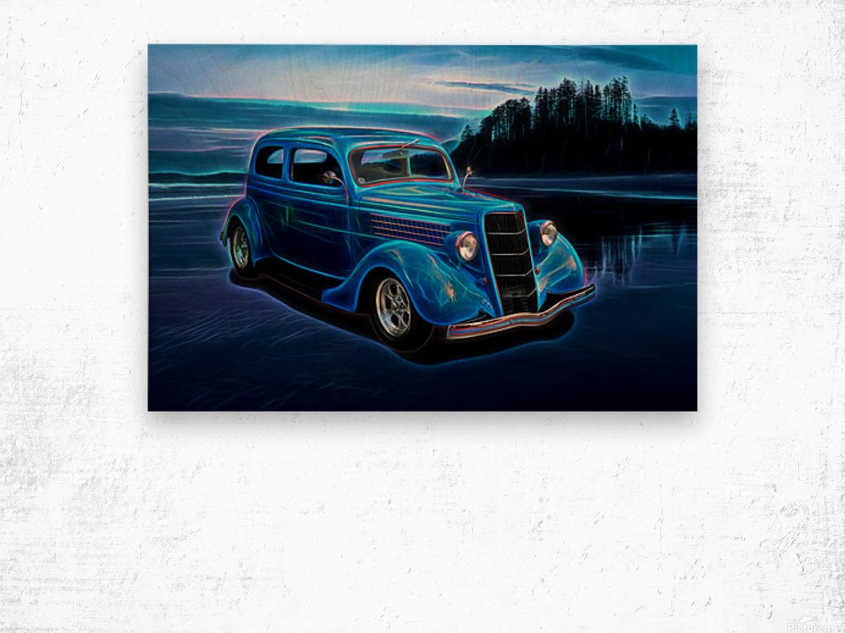 1935 Ford 2-Door Sedan Wood print