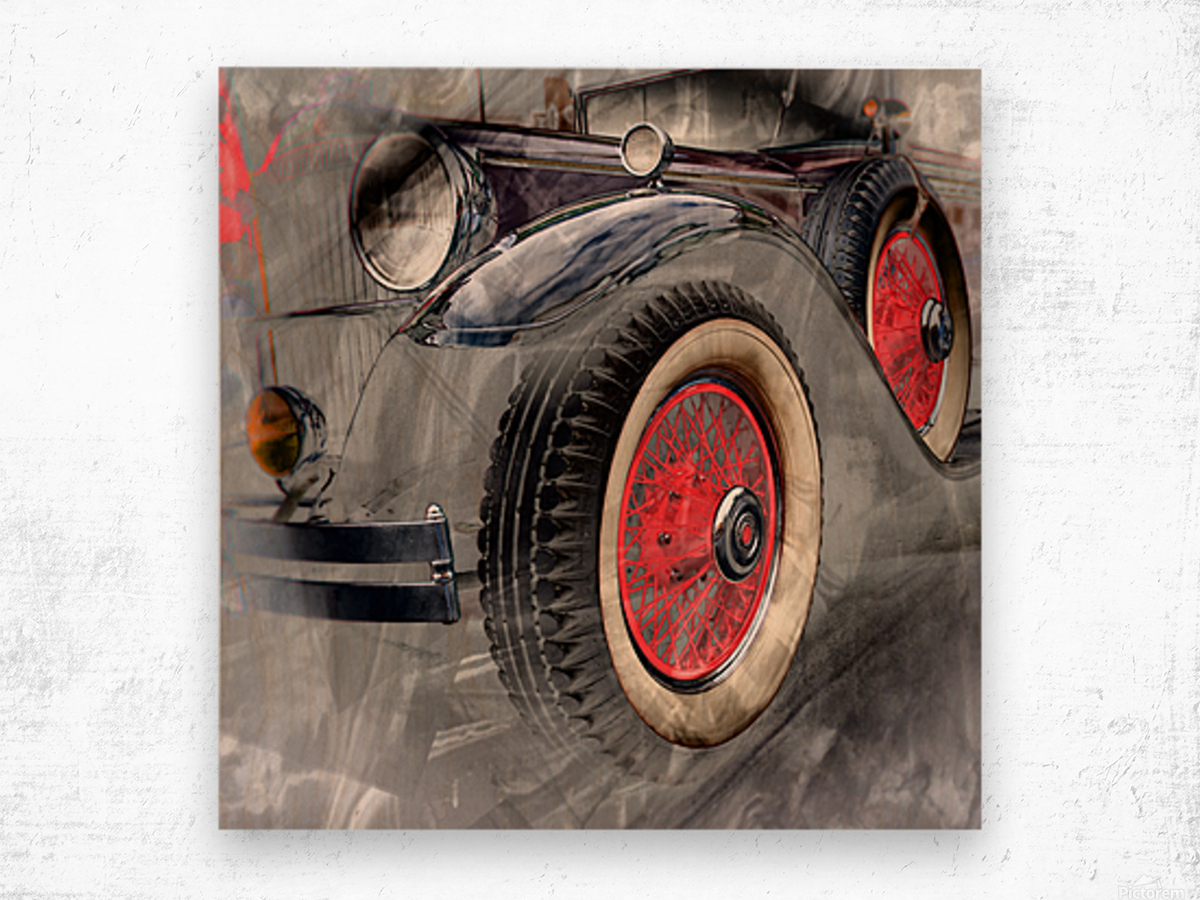 1930 Packard Wood print