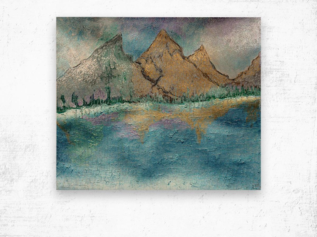 Mountains Wood print