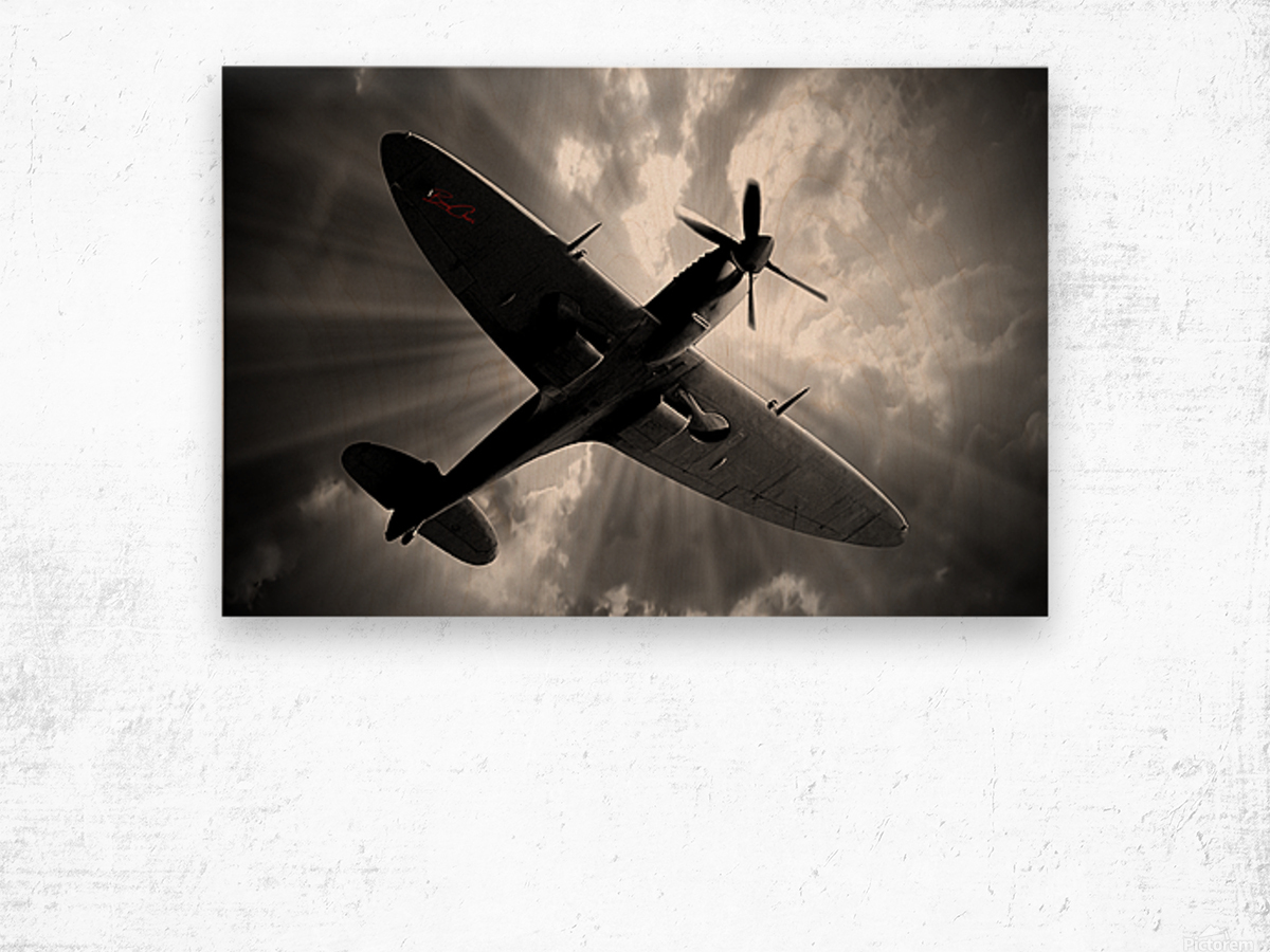 Spitfire Angel Limited Edition 50 Prints only Wood print