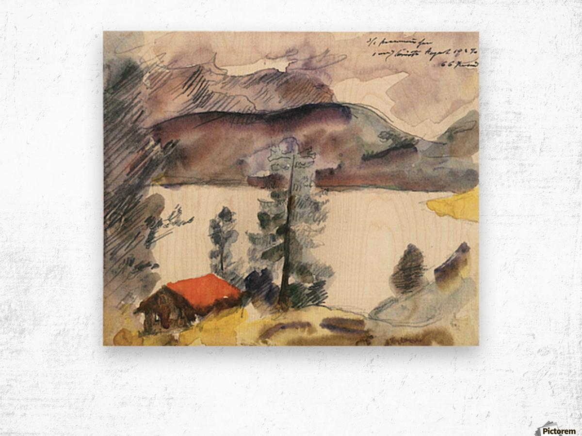 Walchensee -7- by Lovis Corinth Wood print