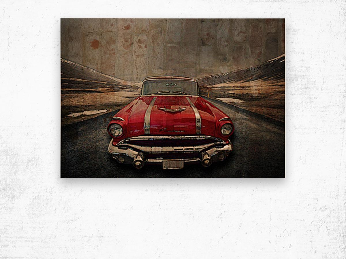 1956 Pontiac Strato-Streak Wood print