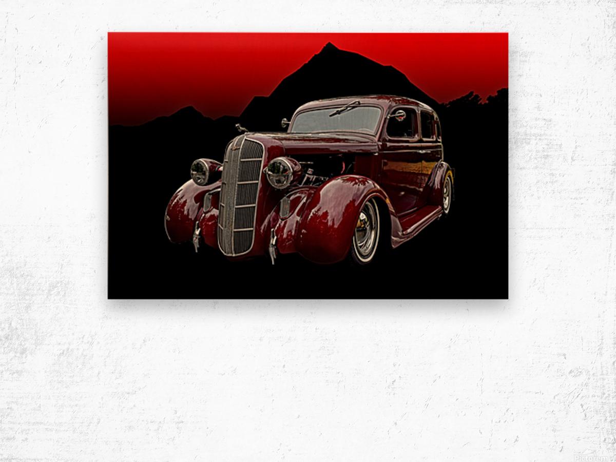 1936 Dodge 4-Door Sedan Wood print