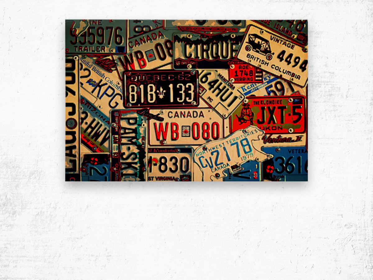 Plates Galore Wood print