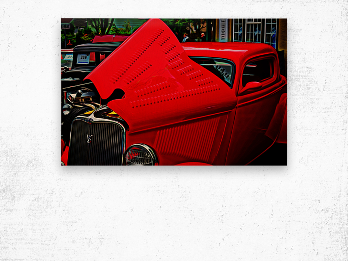 1933 Ford Window Coupe Wood print