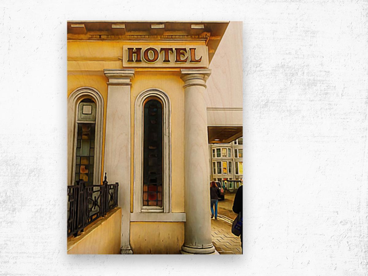 Royal Albion Hotel Brighton Entrance Wood print