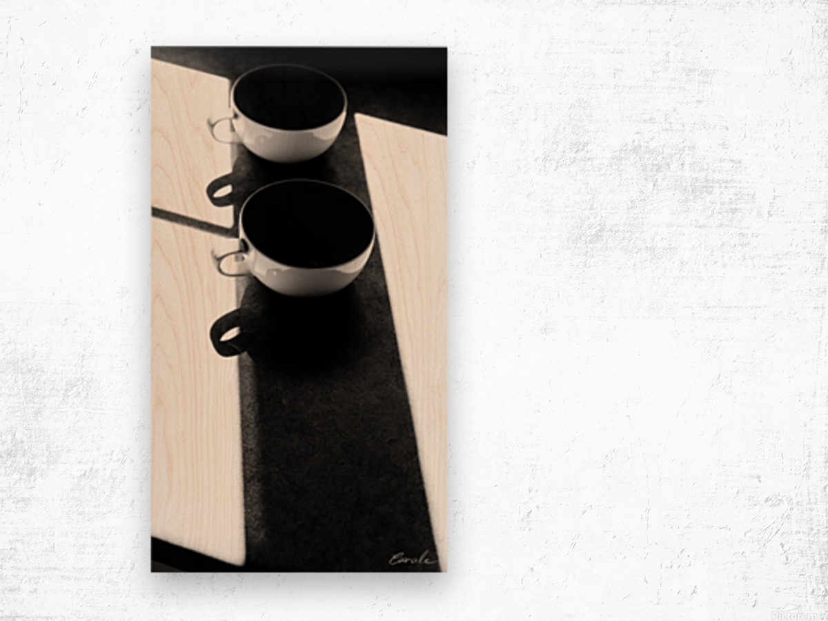 Un Amour Consomme - A Consumed Love  variation 1 NB Wood print