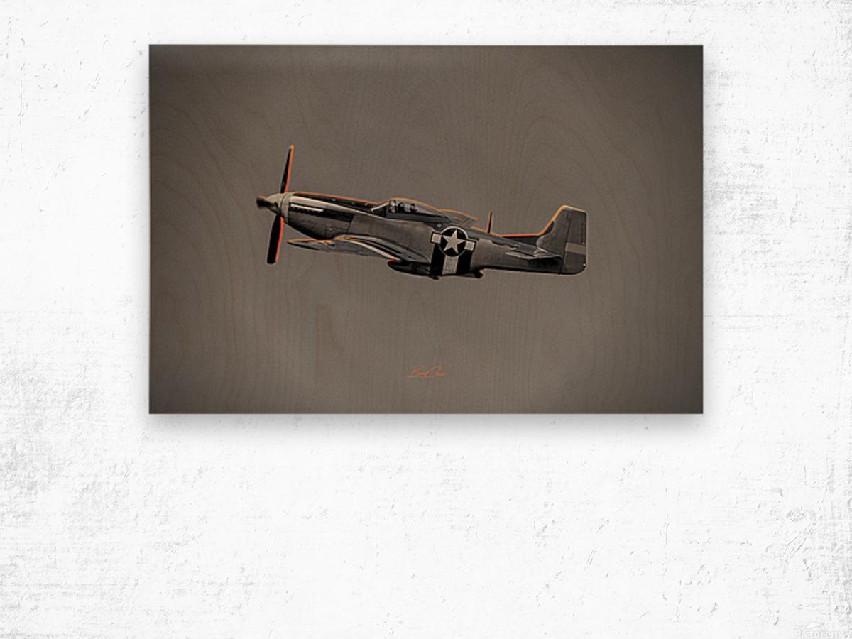 P-51 Orange Super Limited Edition 10 Prints only Wood print
