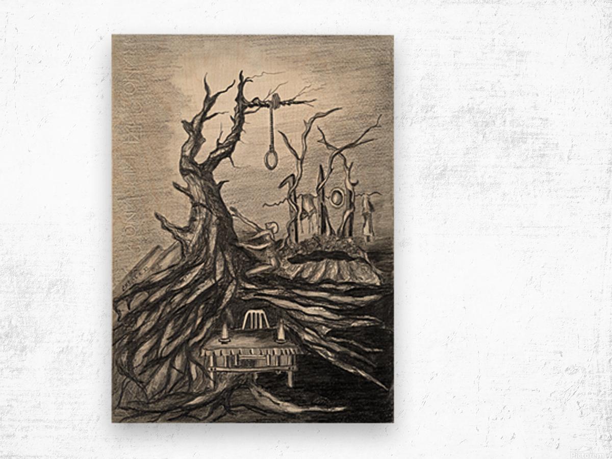 RA 011 - סעודה אחרונה Wood print