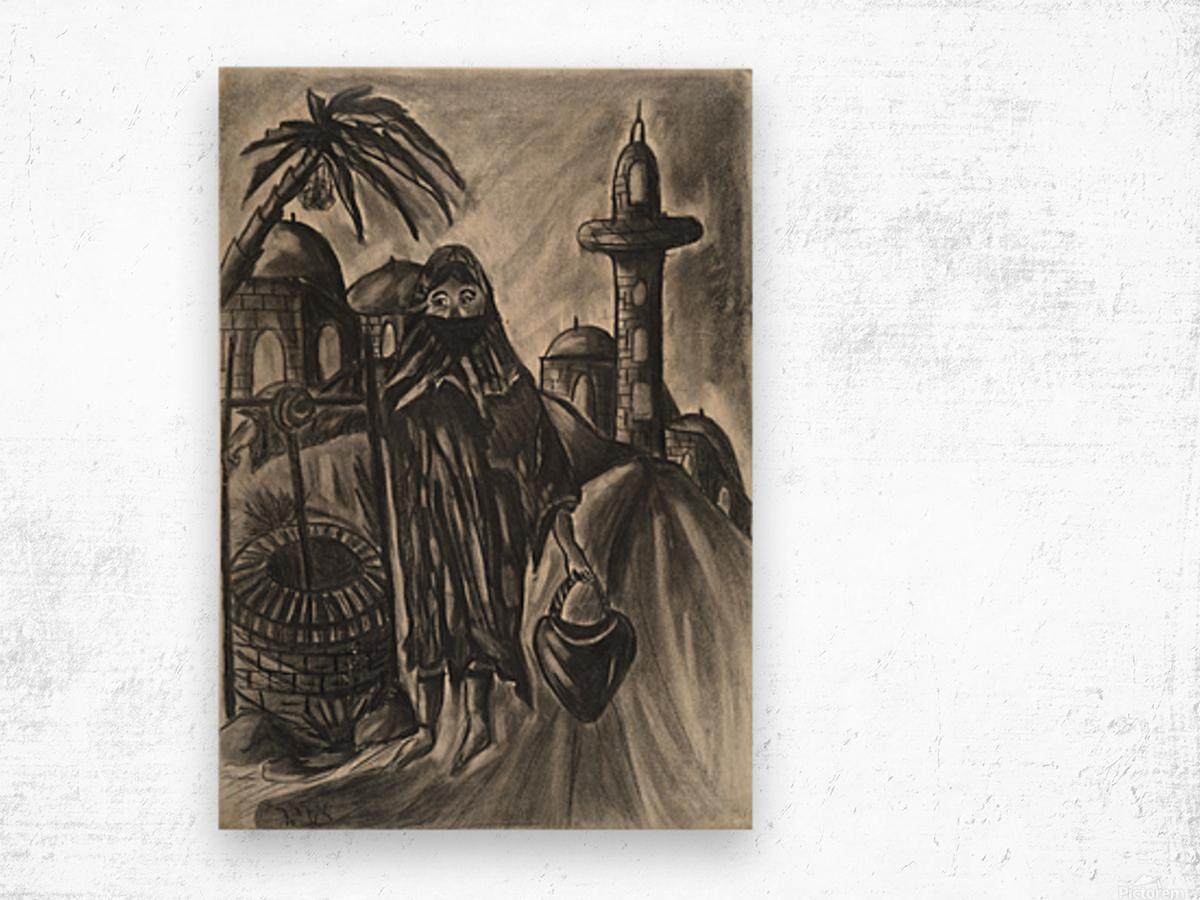 RA 014 - אישה מוסלמית - Muslim woman Wood print