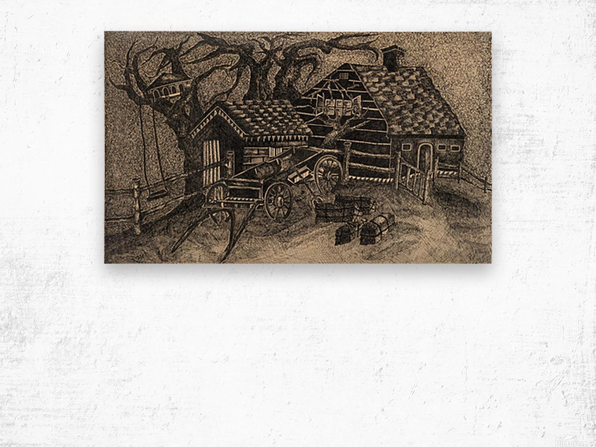 RA 013 - בית בכפר -  house in the village Wood print