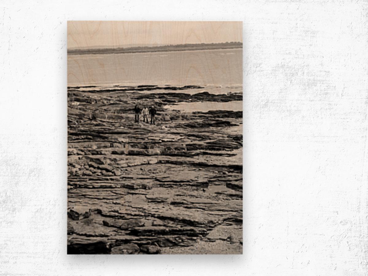 Over Rocks Wood print